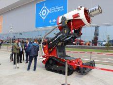 Мобильный пожарный робототехнический комплекс пожарная установка с турбиной МАГИРУС ВИТАНД на Комплексной Безопасности 2021
